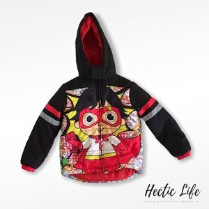 Ryan's World Puffer Coat With Hood Kids a size 5